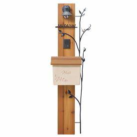 送料無料【オンリーワン】「木」と「カスタマイズ」がテーマのモダン機能門柱【オンリーワン】...
