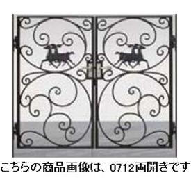 LIXIL 新日軽 ディズニー門扉 角門柱式 プリンセスA型(馬) 0710 両開き 【リクシル】 ブラック:エクステリアのキロ支店