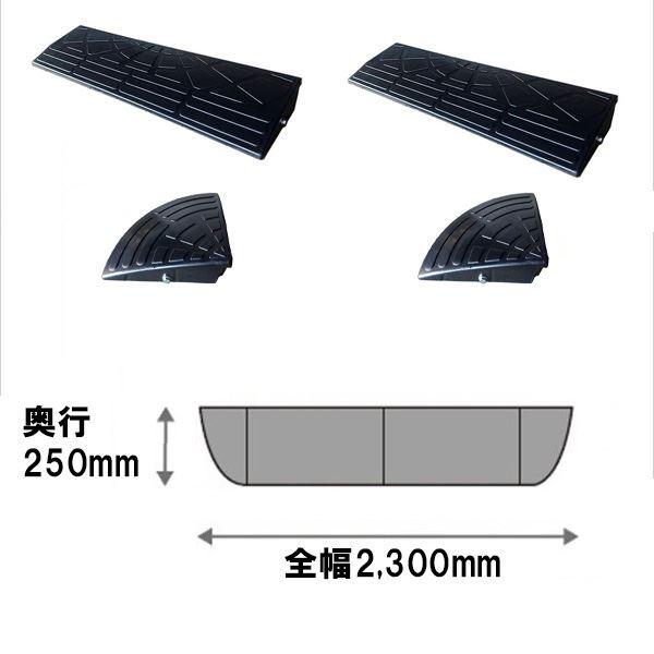 ナフサ ゴム製段差プレート DANSAのぼるくん とくとくセット (L900mm×H100mm×2個、H100mmコーナー×2個) ブラック