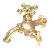 トーシン 蛇口 二口横水栓MIX(研磨) JA-FBD13-HIB-UN 【水栓柱・立水栓 蛇口】