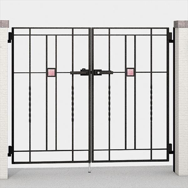 LIXIL TOEX ラフィーネ門扉5A型 柱使用 08-12 両開き 【リクシル】:エクステリアのキロ支店