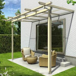 YKKapサザンテラスパーゴラタイプ関東間1500N/m24.5間×5尺(3連結)ポリカ屋根