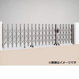 四国化成ニューハピネスHG木調タイプ両開き親子タイプF745WH12『カーゲート伸縮門扉』