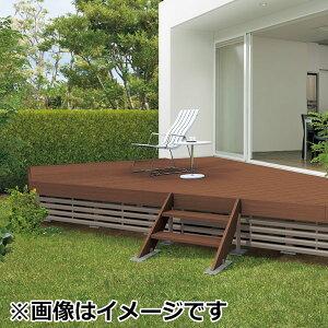 キロスタイルデッキ木質樹脂タイプ1間×12尺(3630)幕板A調整式束柱NLコーナーキャップ仕様『ウッドデッキ人工木』