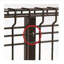 三協アルミ ユメッシュG型 フリー支柱タイプ・固定支柱タイプ共通 柱用部品(1組) 2012 『スチールフェンス 柵』