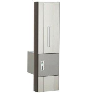 四国化成ファミーユ門柱1型1世帯用本体宅配ボックス付インターホン無し仕様FMP1N-B16N