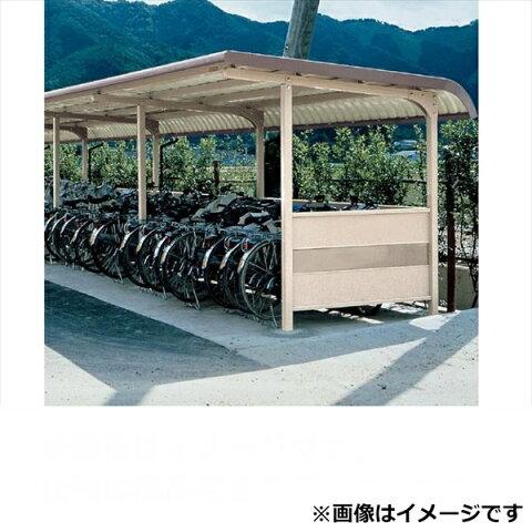 自転車置き場 ヨド物置 YOKRS-280 Hタイプ 追加棟(追加棟施工には基本棟の別途購入が必要です) 『公共用 サイクルポート 屋根』 ブラウニー