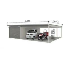 ヨドガレージラヴィージュVGCU-3062H+VKCS-5062Hオープンスペース連結タイプ『シャッター車庫ガレージ』
