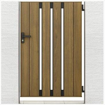 リクシル 開き門扉AA TS1型 柱仕様 アルミ形材柱 09-14 片開き