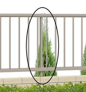 三協アルミ形材フェンスマイエリア2自在柱H800用JFP3-08『アルミフェンス柵』