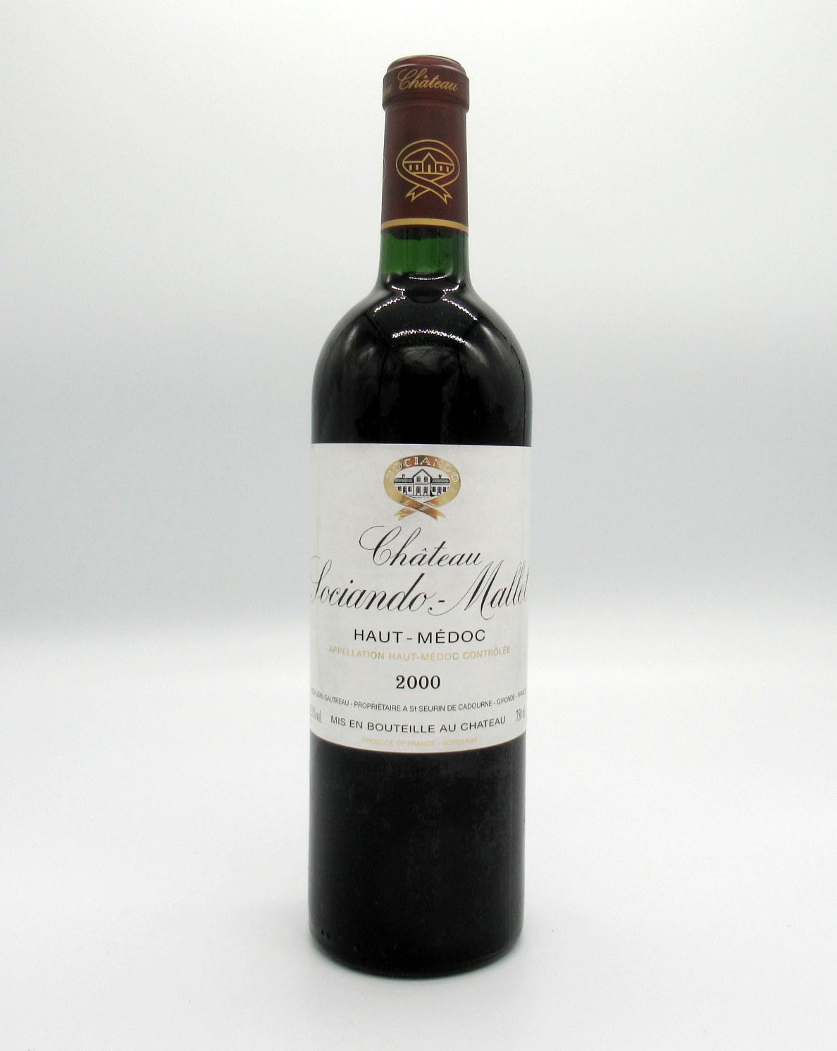 ワイン, 赤ワイン 5 2000 750mlIWC93 92SOCIANDO MALLET