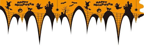 ハロウィン 装飾 カーテンペーパーバナー ( 1個 )ハロウィン バルーン ホームパーティー 飾り