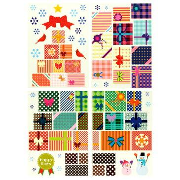 クリスマス 装飾 ウォール&ウィンドウステッカー(L)プレゼントツリークリスマス バルーン ホームパーティー 飾り