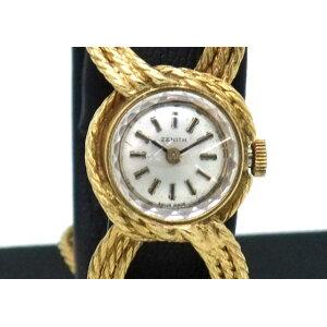【中古】K18ゼニスレディース手巻き時計