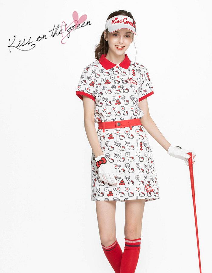 限定Hello Kittyコラボ★キティちゃん襟刺しゅうポロシャツ