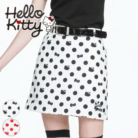 キティちゃんコラボ★ドット柄スカート