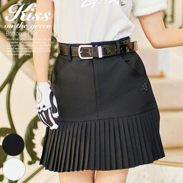 裾切り替えデシンプリーツスカート