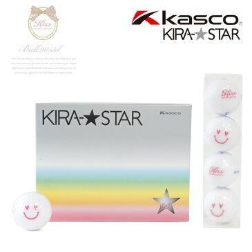 【代引手数料無料】KIRA キスオンザグリーンコラボ オリジナル ホワイトスマイルボール(1ダース) (ゴルフウェア レディース ゴルフウエア)