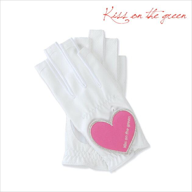 プレゼントに最適♪ハートグローブ【両手・指先開き】【ピンク】