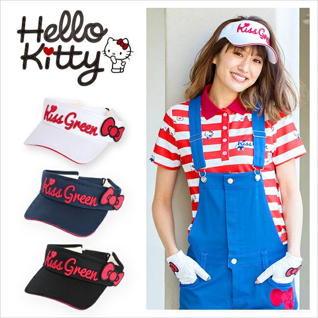 限定Hello Kittyコラボ★キティちゃんリボン付きサンバイザー