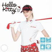 限定Hello Kittyコラボ★キティちゃん襟刺しゅうポロシャツ【吸水速乾・UV加工・接触冷感】