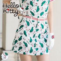 限定Hello Kittyコラボ★キティちゃんグリーン柄スカート