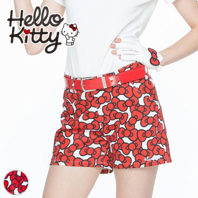 限定Hello Kittyコラボ★キティちゃんりぼんプリントショートパンツ