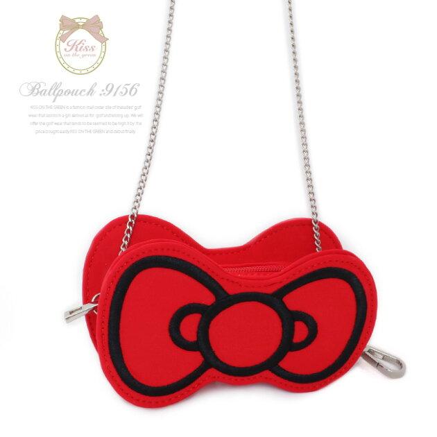 Hello Kittyコラボ★キティちゃんりぼんボールポーチ
