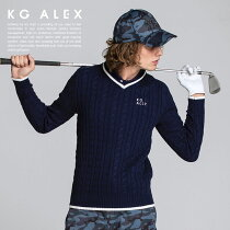 ケーブル編みライン入りニットセーター