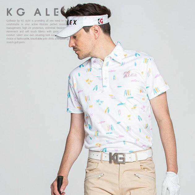 【10周年 特別企画】サーフボード柄半袖ポロシャツ【吸水速乾・UV加工・接触冷感】