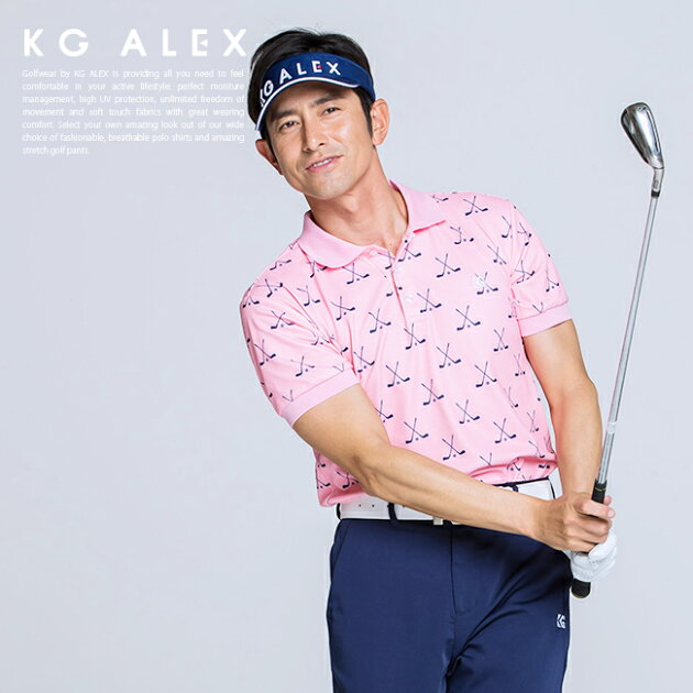 【10周年 特別企画】ゴルフクラブ柄半袖ポロシャツ