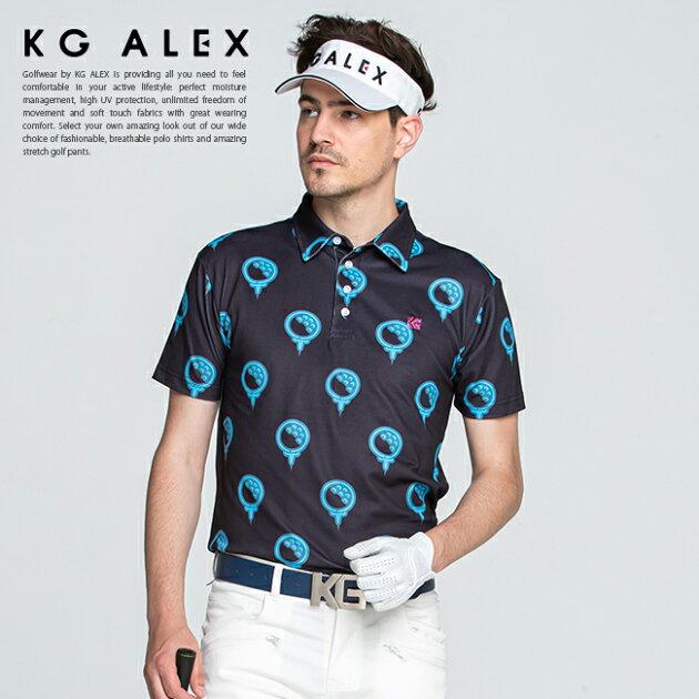 【10周年 特別企画】ゴルフボールプリント半袖ポロシャツ