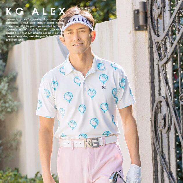ゴルフボールプリント半袖ポロシャツ