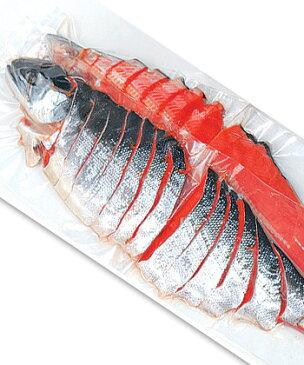 熟成塩紅鮭寒風姿切身1.3kg〜1.5kg 中辛口のサケの切り身【紅鮭を寒風干し】熟成したさけ【ブランドサーモン】贈答用・お中元・ギフトにも【送料無料】