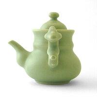 茶器茶壺鋳彩水平蛋壺陳録尭作