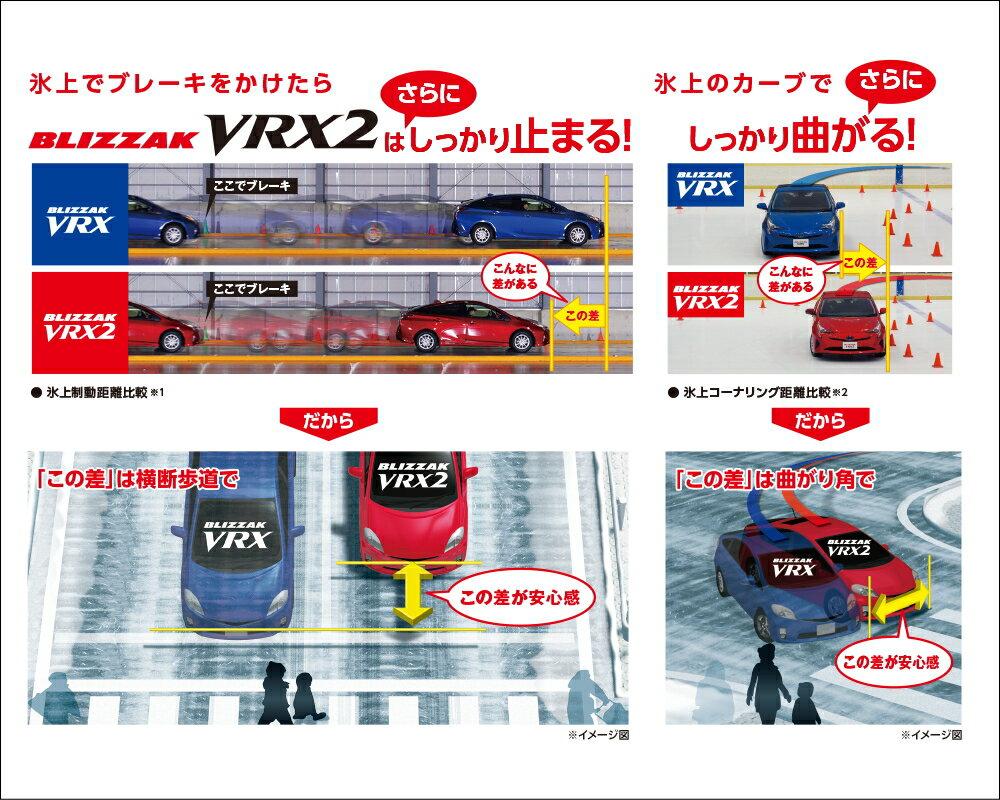 8月1日より各社値上げ!買うならいま! ブリヂストン BRIDGESTONE ブリザック VRX2 BLIZZAK VRX2 155/55R14 14インチ スタッドレスタイヤ 4本セット 冬用 新品