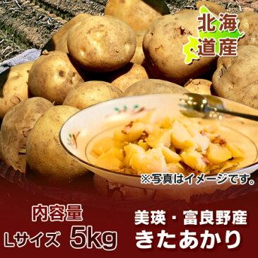 【北海道 じゃがいも きたあかり】 北海道産 黄色いじゃがいも キタアカリ 栗じゃが 内容量:Lサイズ 5kg 特価 1100 円