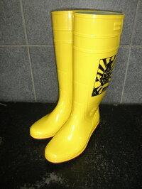 ザクタス耐油長靴Z01(イエロー)日本製大漁プリント入り