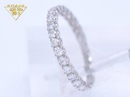 プラチナ900天然ダイヤ0.5ctハーフエタニティーリング爪留めタイプ