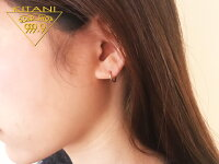 K18フープピアス1ミリパイプx直径10ミリ(両耳ペアー)