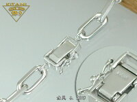 K18ホワイト極太4面カットスーパー小豆(スパルタカス)ブレスレット幅約5.5mm/全長20cm/重量約19.0前後g(forMens)