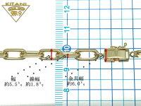 K18極太4面カットスーパー小豆(スパルタカス)ブレスレット幅約5.5mm/全長18cm/重量約16.0前後g(forLadys)