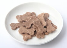 鹿肉カリカリトリーツ皿