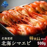 シマエビ 北海道産 北海シマエビ特大500g 目安25尾前後 新鮮な素材の甘みと塩加減にこだわった極上逸品!シマエビ 海老 しまえび