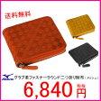 【A】ミズノ(mizuno) グラブ革メッシュファスナーラウンド二つ折り財布(メッシュ) グローブ革で作成 2ZG-94002【送料無料/サイフ/さいふ】
