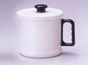 富士ホーロー 1.5Lオイルポット(活性炭カートリッジ付)<ホワイト>(OP-1.5C・W) ( キッチンブランチ )