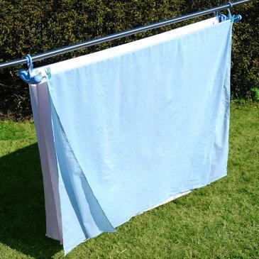 【送料無料】下村企販 洗濯ハンガー シーツゆったりのびのびハンガー3枚掛け ブルー 30637( キッチンブランチ )