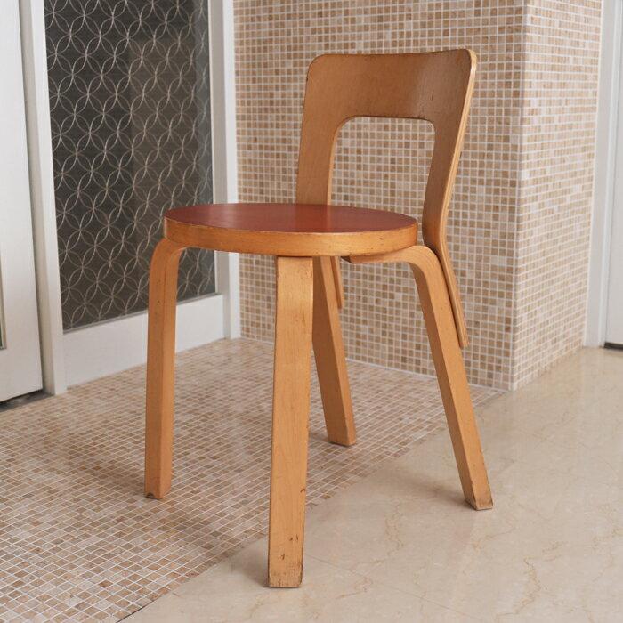 【 アンティーク 】アルテック チェア 65 レッド 《 ビンテージ vintage ヴィンテージ 》 【 artek イス 椅子 】( キッチンブランチ )の写真