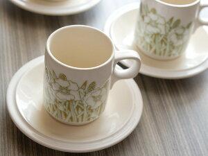 《アンティーク》ホンジー フルール コーヒーカップ&ソーサー 《貫入あり》《ビンテージ/vin...