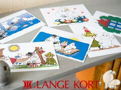 【北欧特集/その他】*Lange Kort/ラングアート ムーミン ポストカード A 《GIFTCARD》